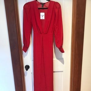 NWT Forever 21 plunge Maxi Dress